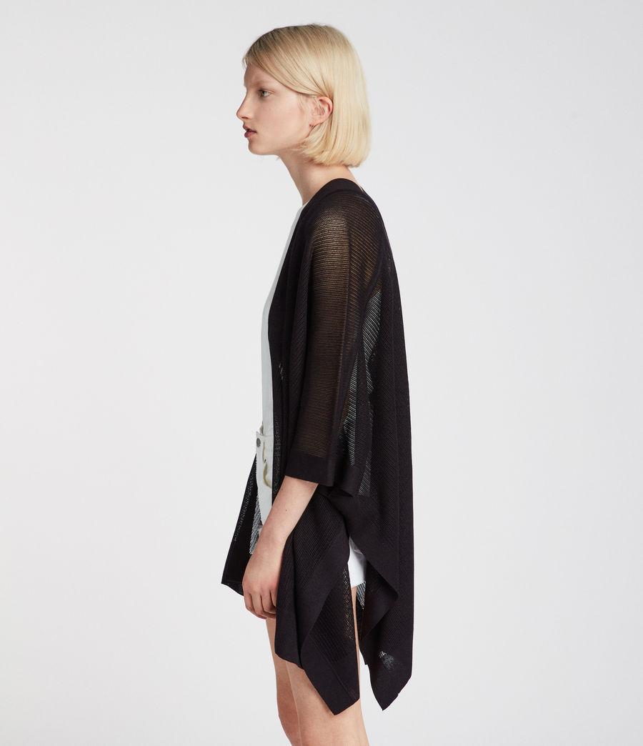 Damen Bishi Kimono Strickjacke (black) - Image 2