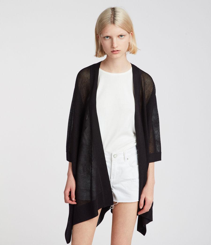 Damen Bishi Kimono Strickjacke (black) - Image 3