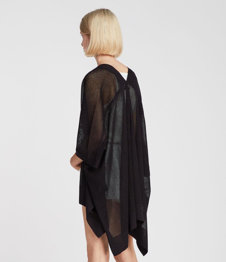 Damen Bishi Kimono Strickjacke (black) - Image 4