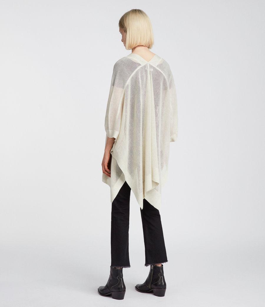 Mujer Cárdigan Bishi Kimono (linen_white) - Image 4