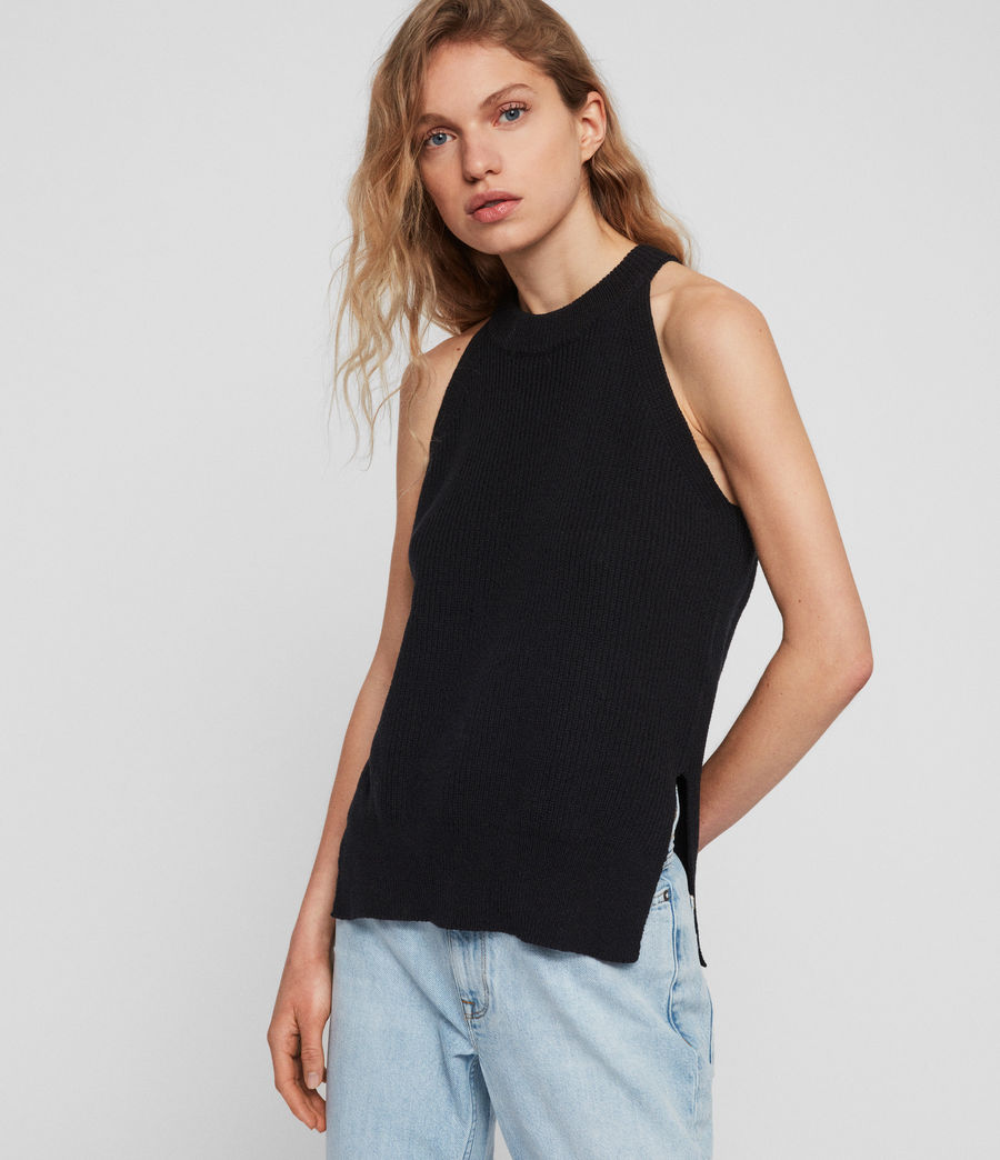 Women's Haliki Vest Top (black) - Image 1