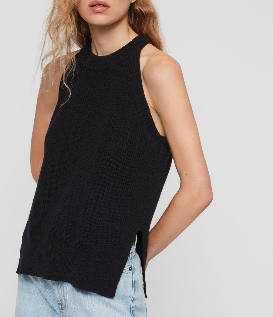 Women's Haliki Vest Top (black) - Image 3