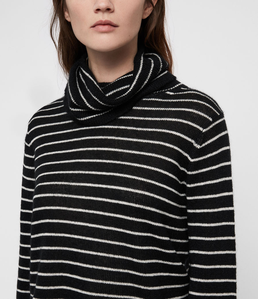 Mujer Marty Roll Neck Sweater (black_white) - Image 2