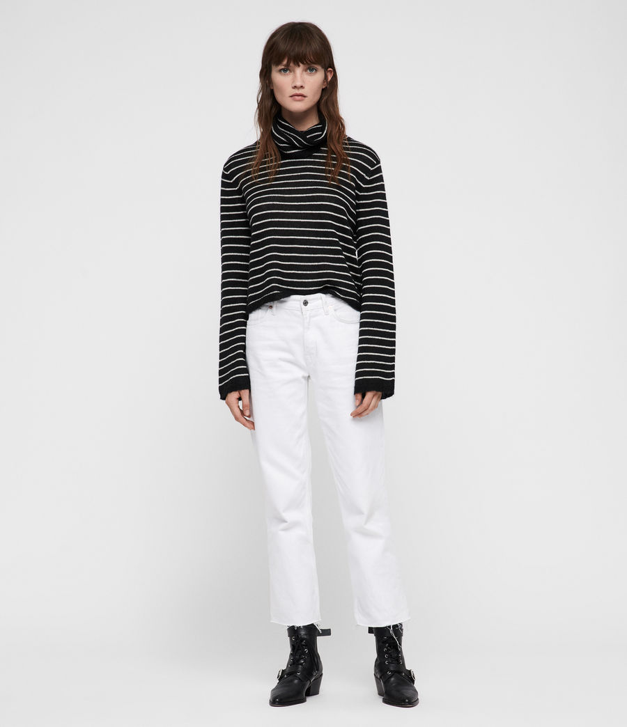 Mujer Marty Roll Neck Sweater (black_white) - Image 3