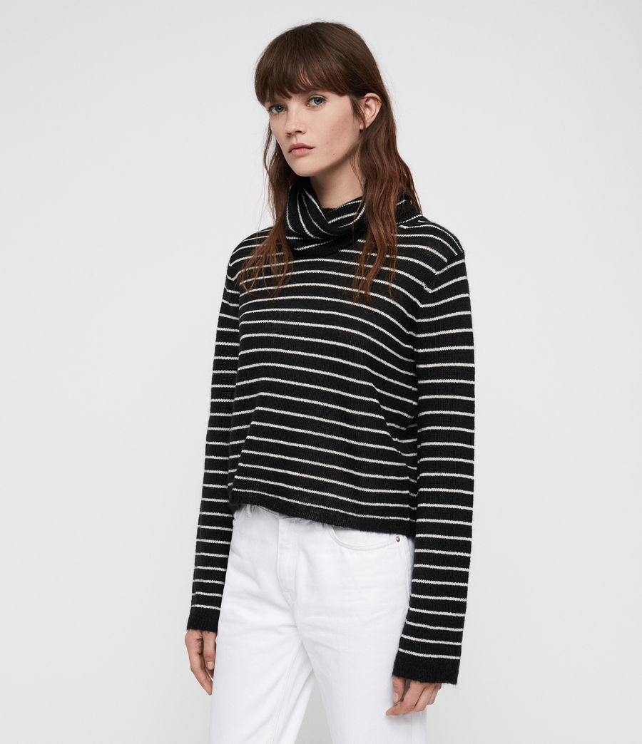 Mujer Marty Roll Neck Sweater (black_white) - Image 4