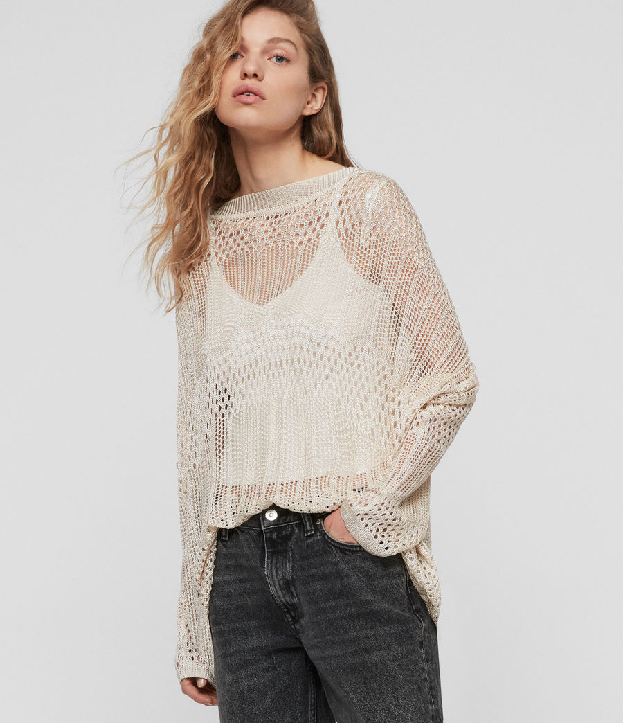 Womens Estero Sweater (chalk_white) - Image 5