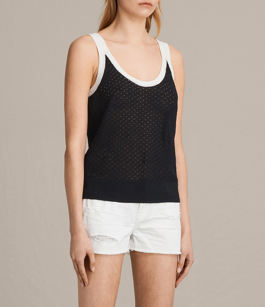 Damen Covey Vest (ink_blue_chalk_wht) - Image 2