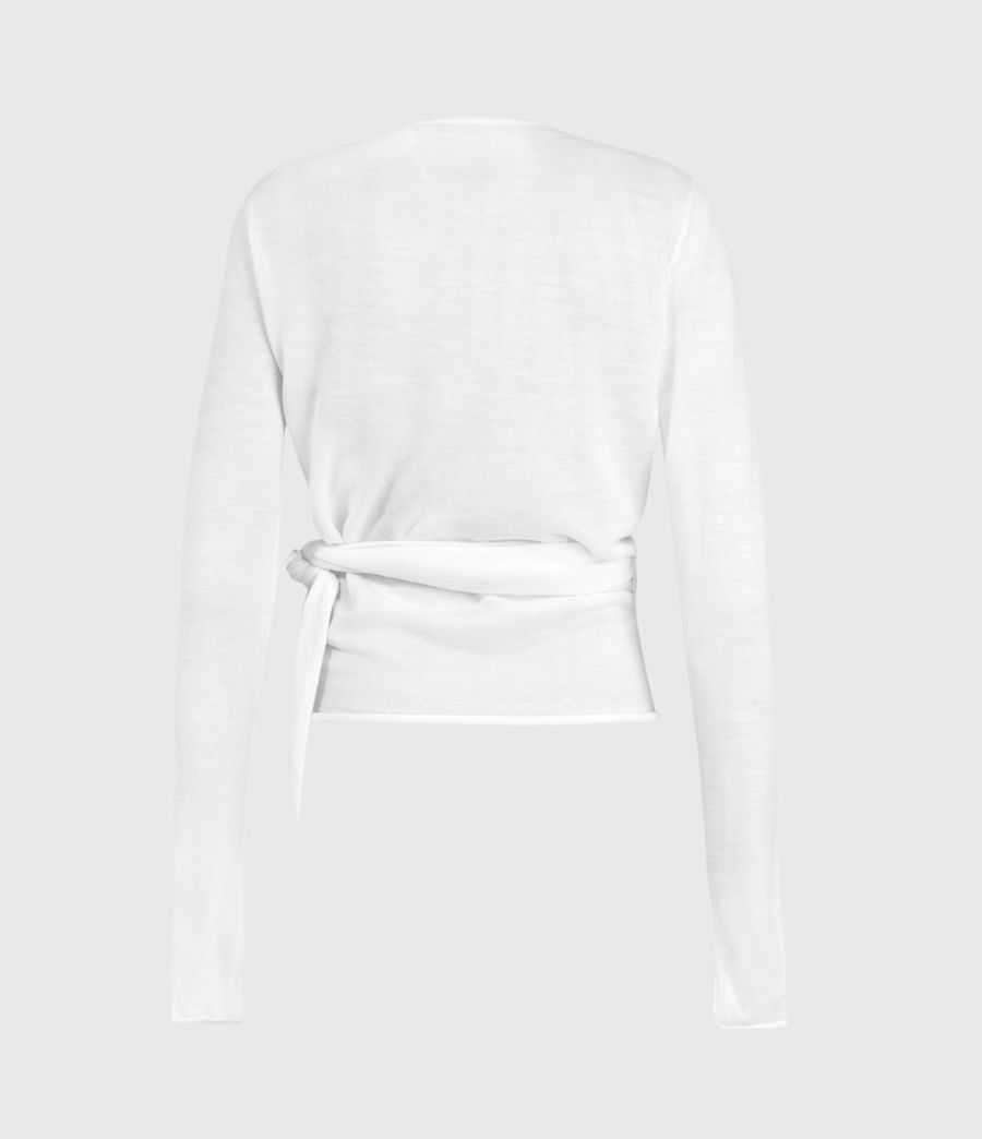 Women's Lonia Merino Wool Wrap Cardigan (white) - Image 2