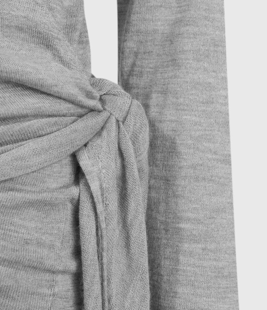 Mujer Lonia Merino Wool Wrap Cardigan (grey_marl) - Image 4