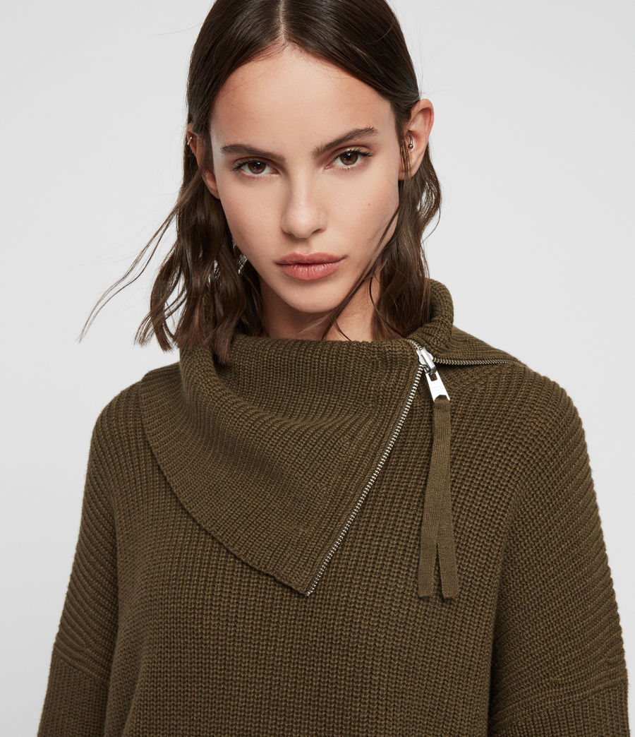 Womens Kadine Roll Neck Sweater (military_green) - Image 2