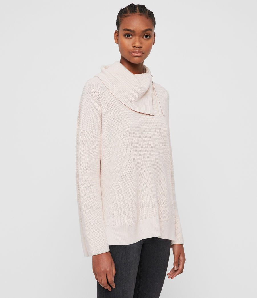Women's Kadine Roll Neck Jumper (hush_pink) - Image 3