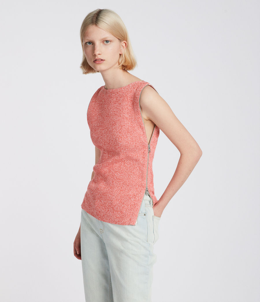 Womens Anza Knit Top (bright_pink) - Image 2