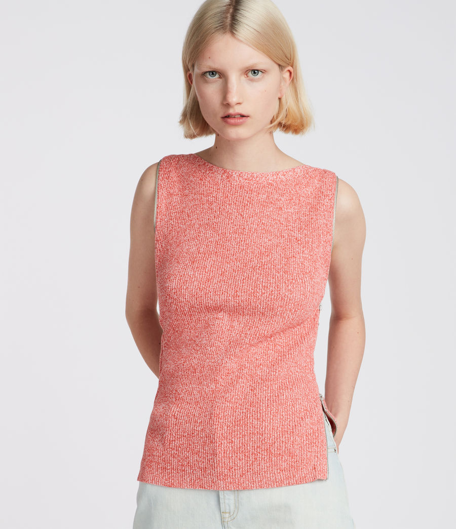 Womens Anza Knit Top (bright_pink) - Image 3