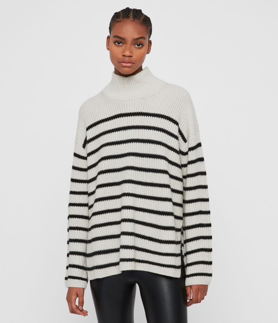 Women's Melody Cashmere Blend Jumper (porcelain_black) - Image 1