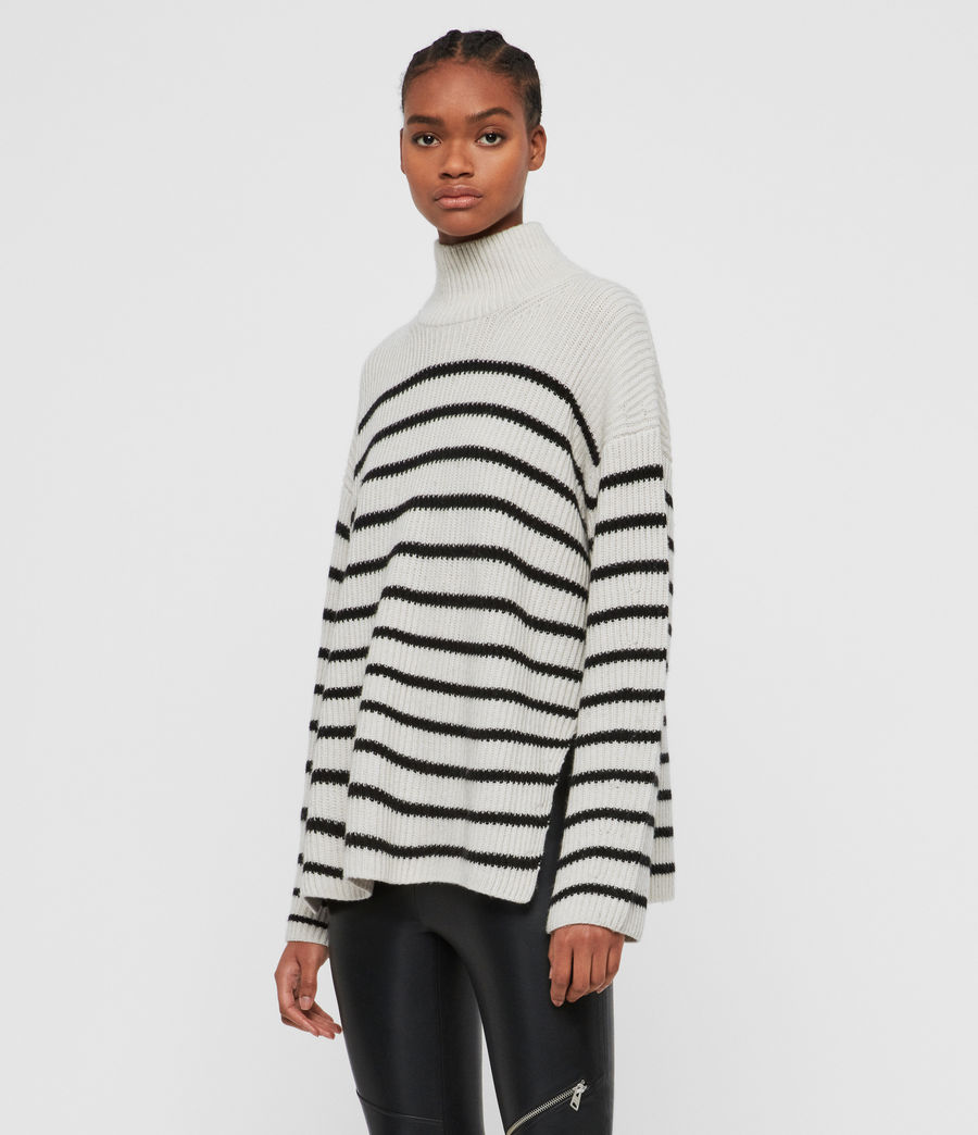 Women's Melody Cashmere Blend Jumper (porcelain_black) - Image 4