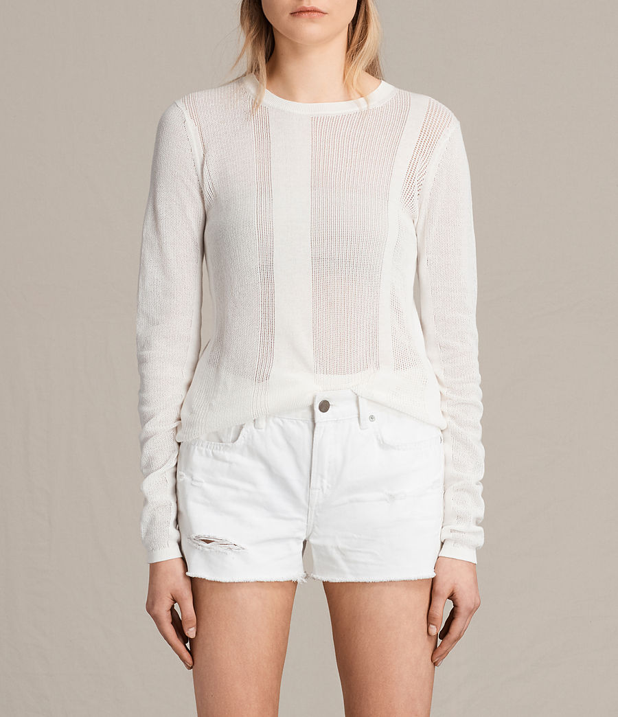 Womens Springs Crew Sweater (chalk_white) - Image 1
