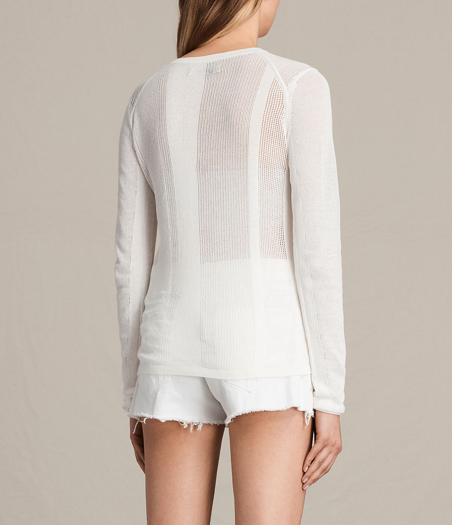 Womens Springs Crew Sweater (chalk_white) - Image 3
