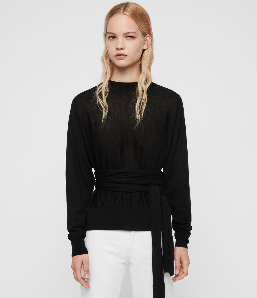 Womens Flora Sweater (black) - Image 1