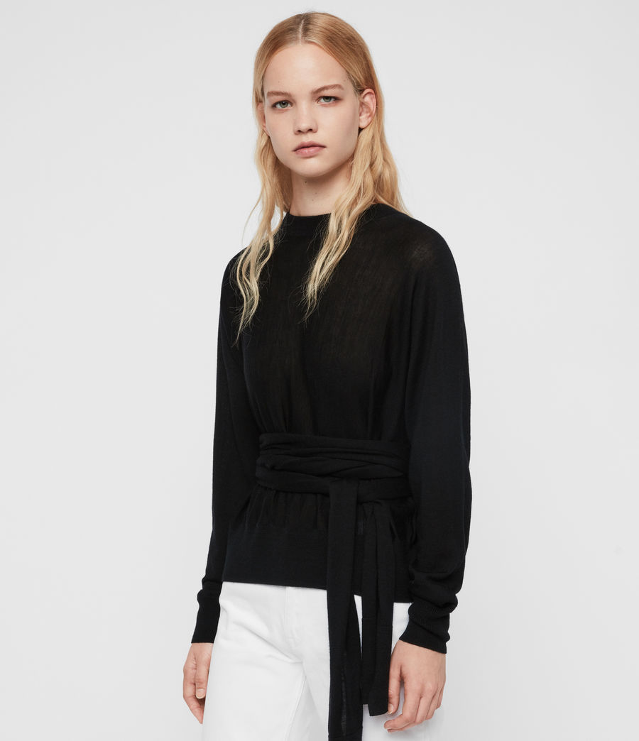 Women's Flora Jumper (black) - Image 5