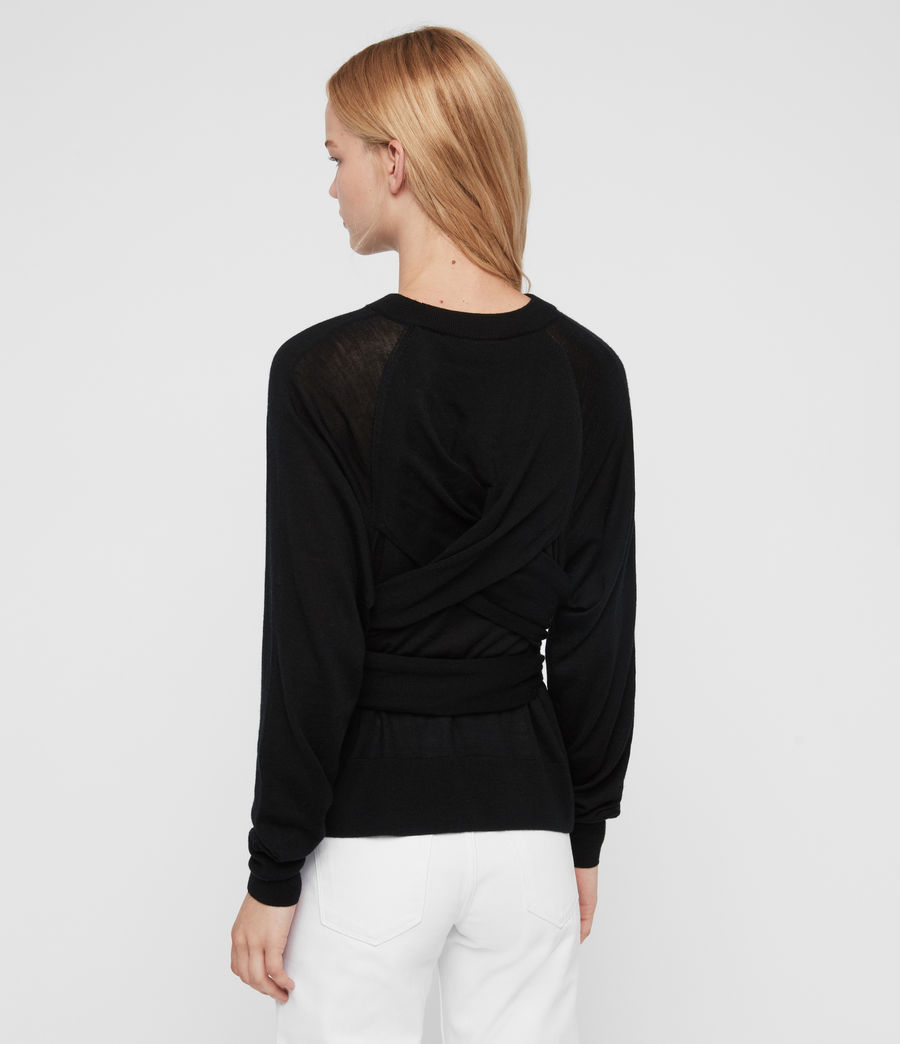 Womens Flora Sweater (black) - Image 6