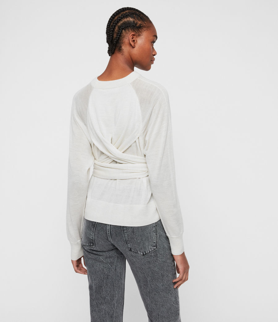 Womens Flora Sweater (ivory_white_marl) - Image 7