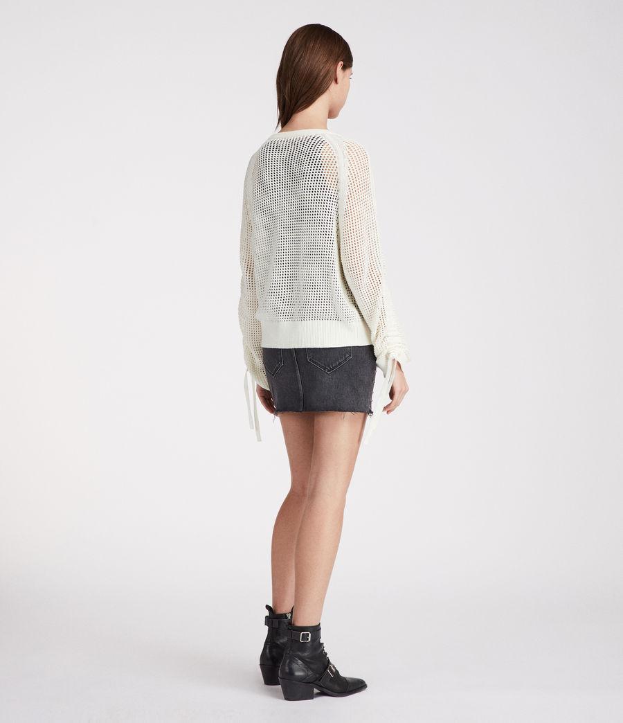 Femmes Pull Ajouré Zano (chalk_white) - Image 3