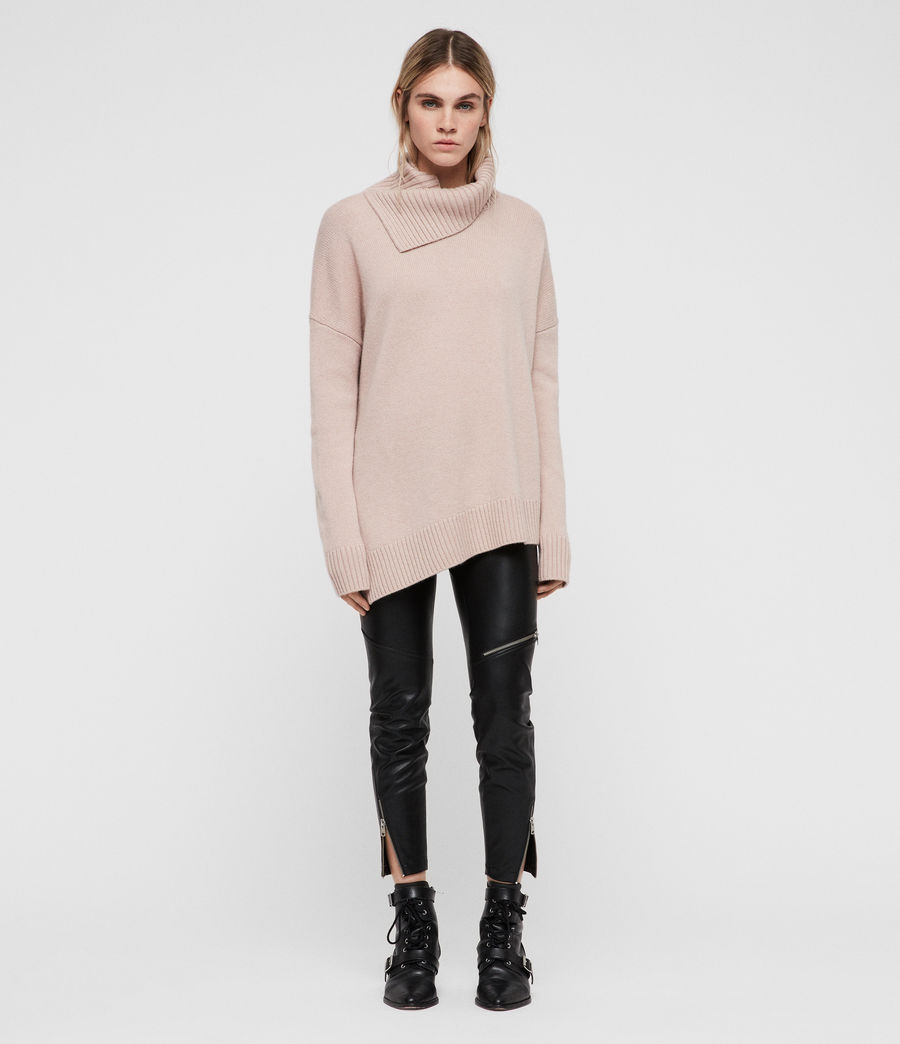 Womens Witby Roll Neck Sweater (whisper_pink) - Image 3