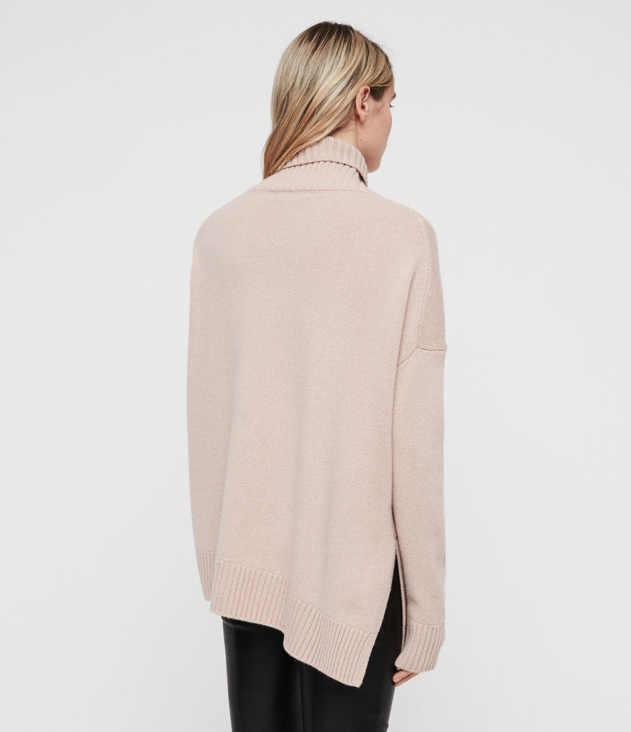 Womens Witby Roll Neck Sweater (whisper_pink) - Image 5