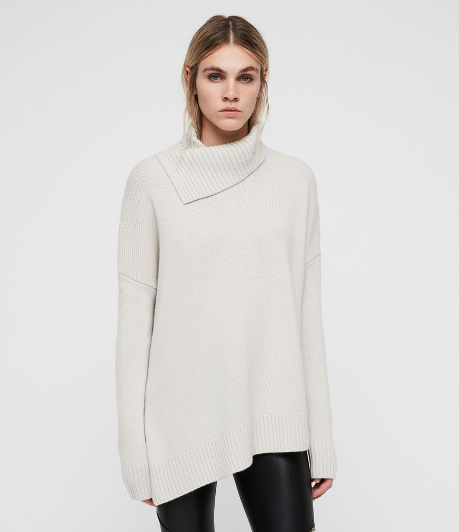 Women's Witby Roll Neck Jumper (porcelain_white) - Image 1