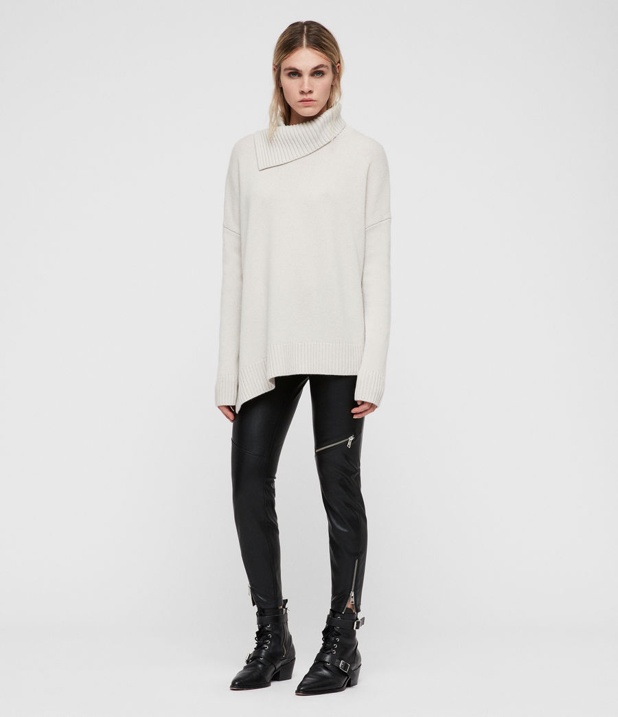Women's Witby Roll Neck Jumper (porcelain_white) - Image 5