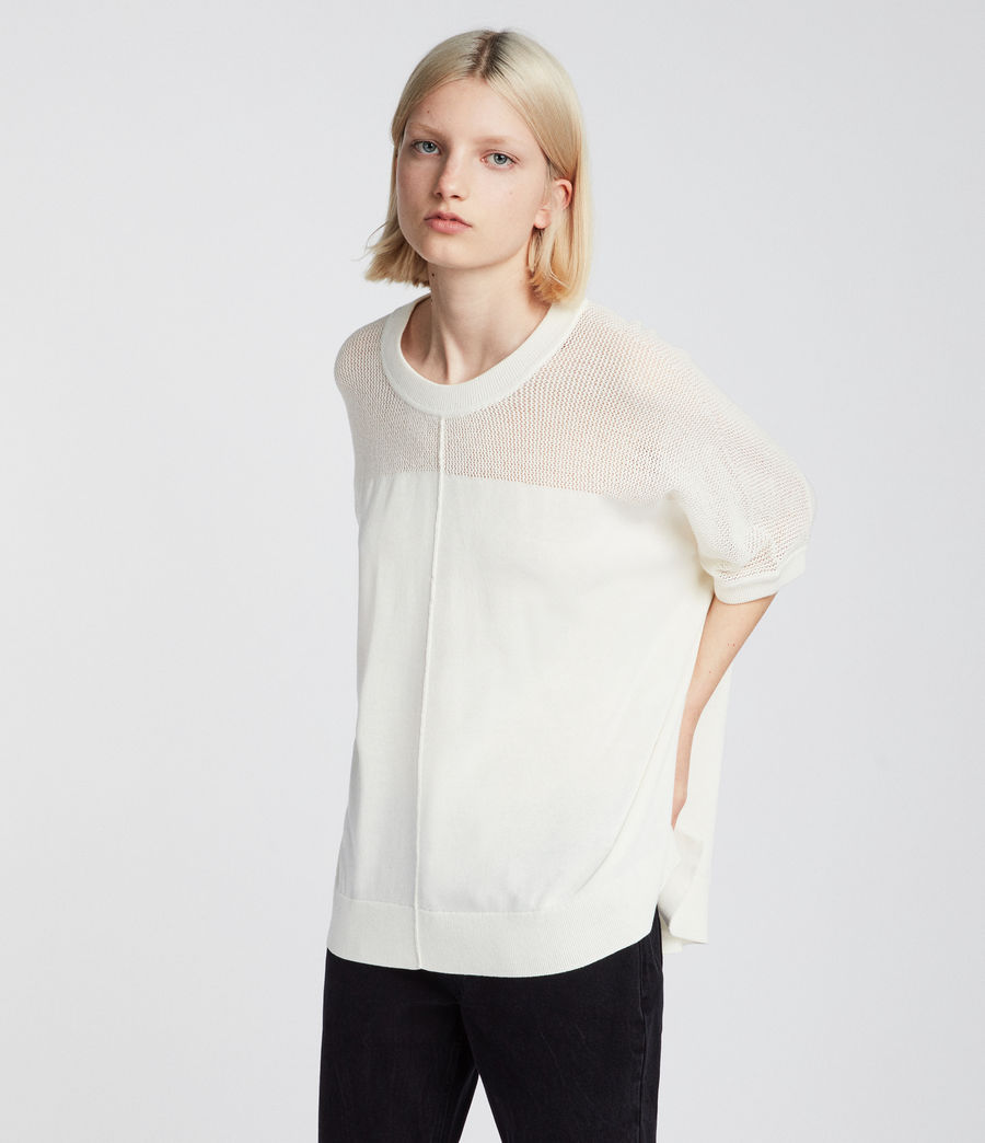 Womens Blois Knit Tee (cloud_white) - Image 1
