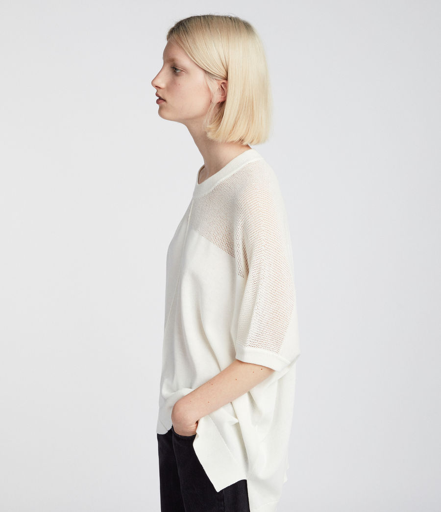 Womens Blois Knit Tee (cloud_white) - Image 3