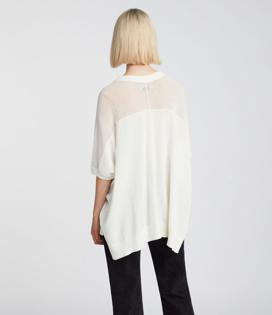Womens Blois Knit Tee (cloud_white) - Image 4
