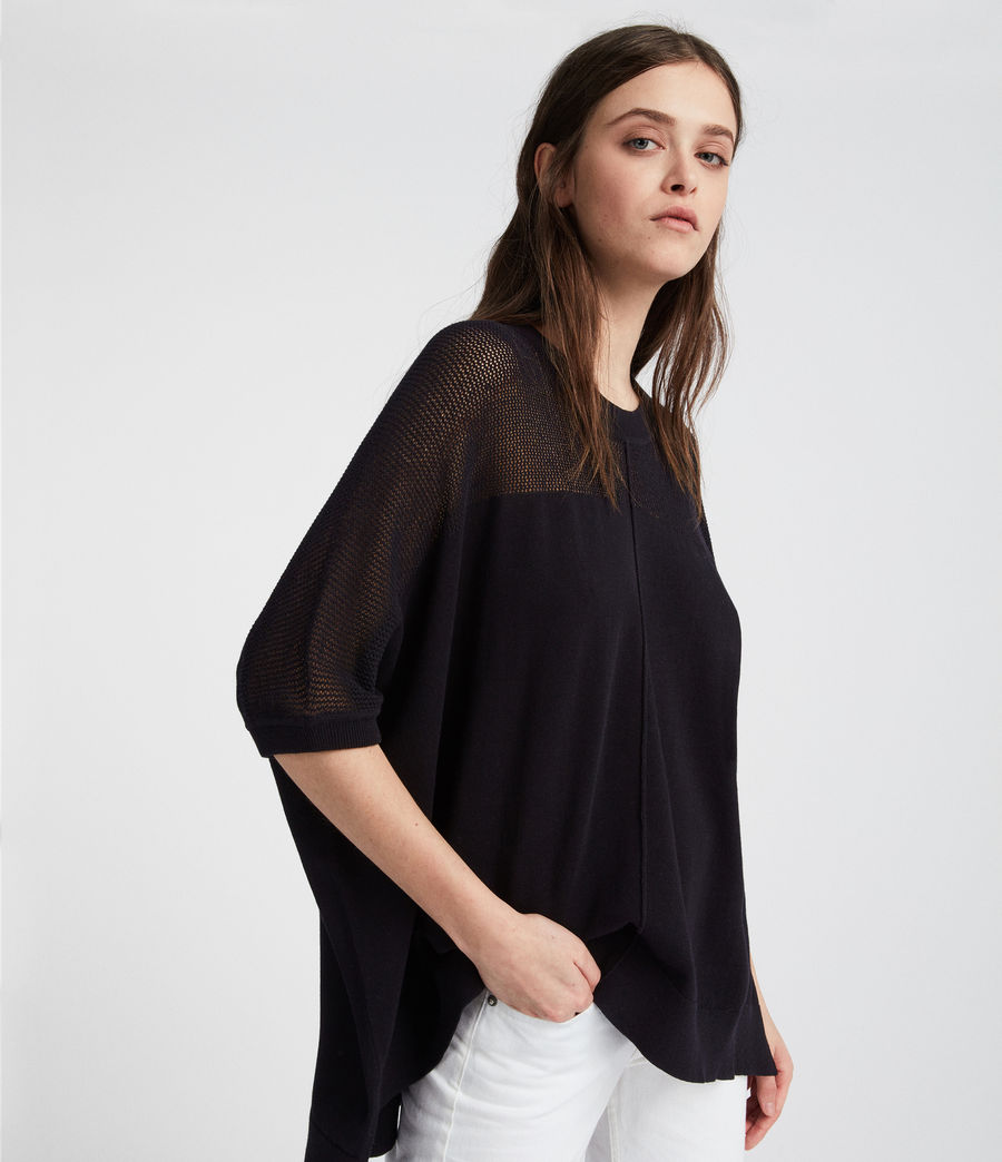 Womens Blois Knit Tee (black) - Image 3