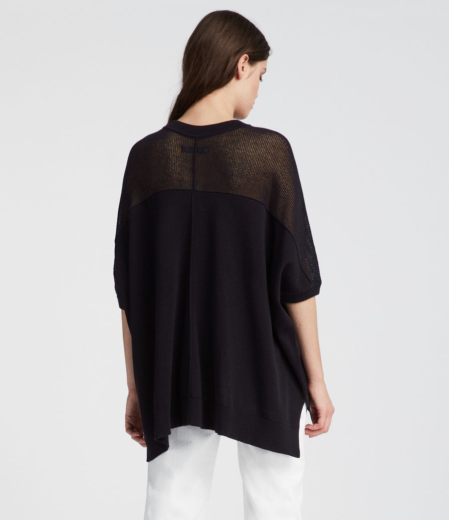Womens Blois Knit Tee (black) - Image 4