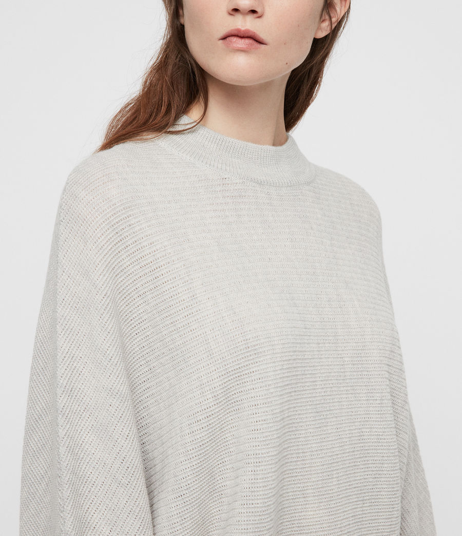 Womens Gene Crew Neck Sweater (grey_marl) - Image 2