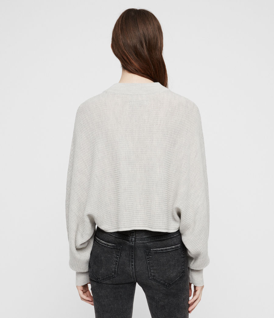 Womens Gene Crew Neck Sweater (grey_marl) - Image 4