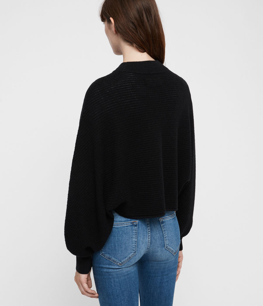 Womens Gene Crew Neck Sweater (black) - Image 4
