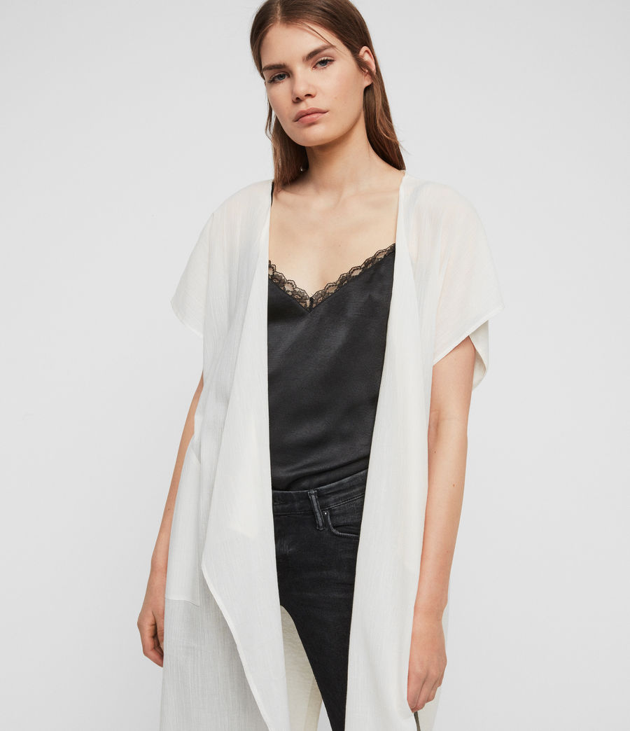 Women's Carmel Cardigan (chalk_white) - Image 2