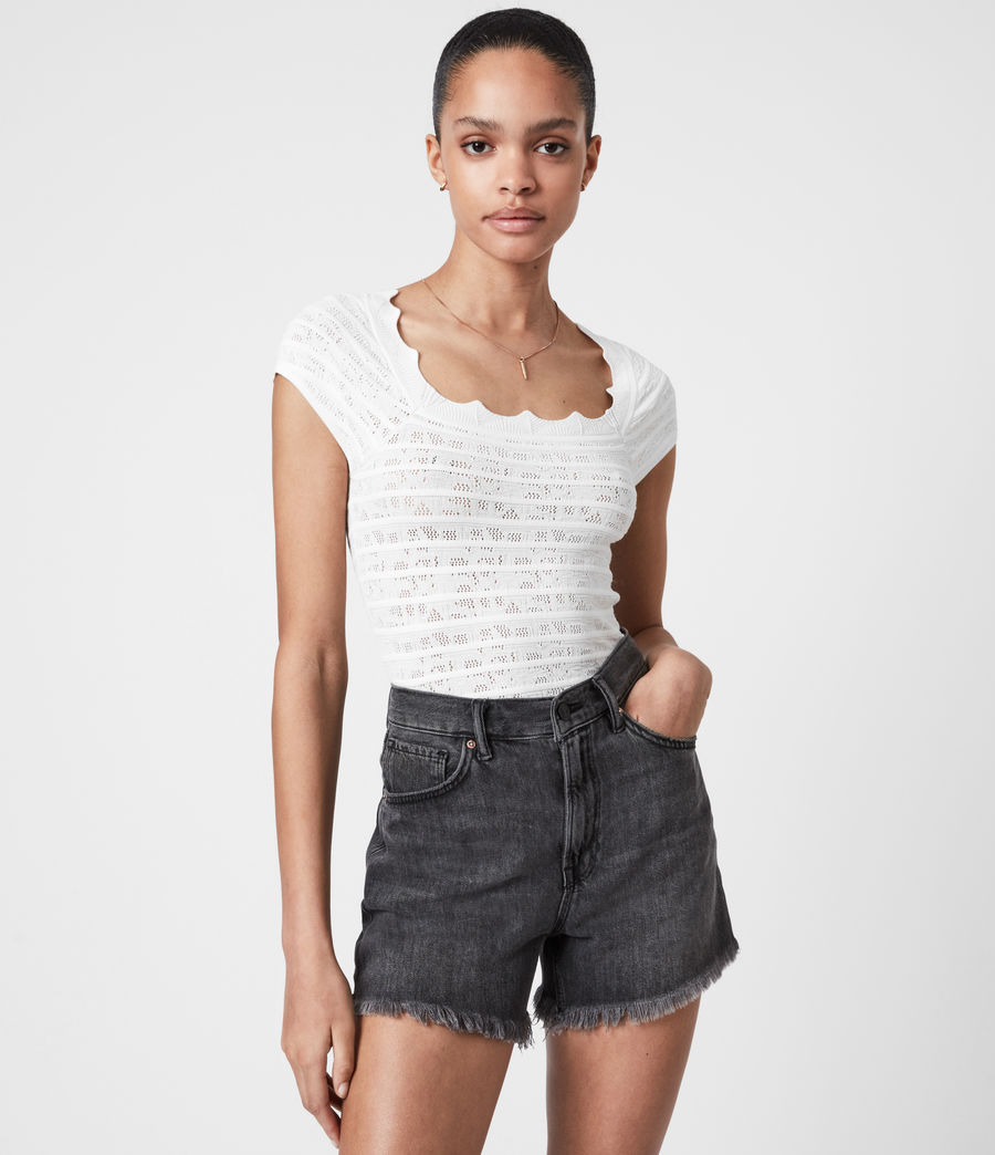 Women's Lace Top (off_white) - Image 1