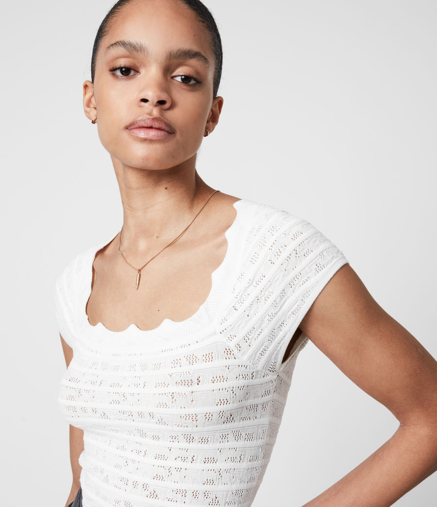 Women's Lace Top (off_white) - Image 4