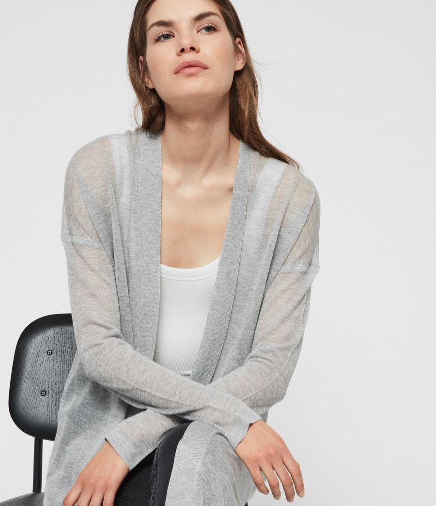 Women's Fleur Cardigan (pale_grey) - Image 3