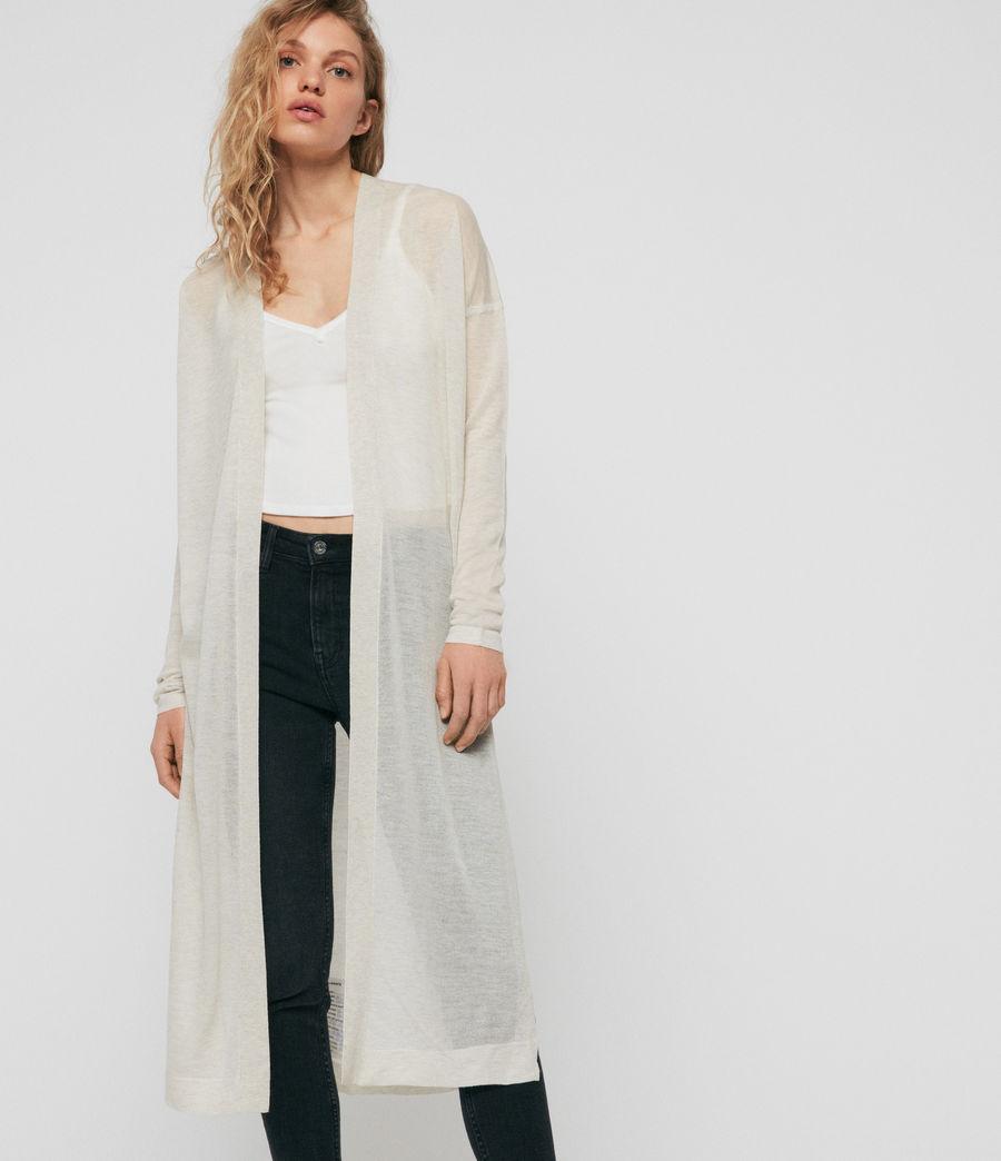 Femmes Cardigan Fleur (linen_white) - Image 1