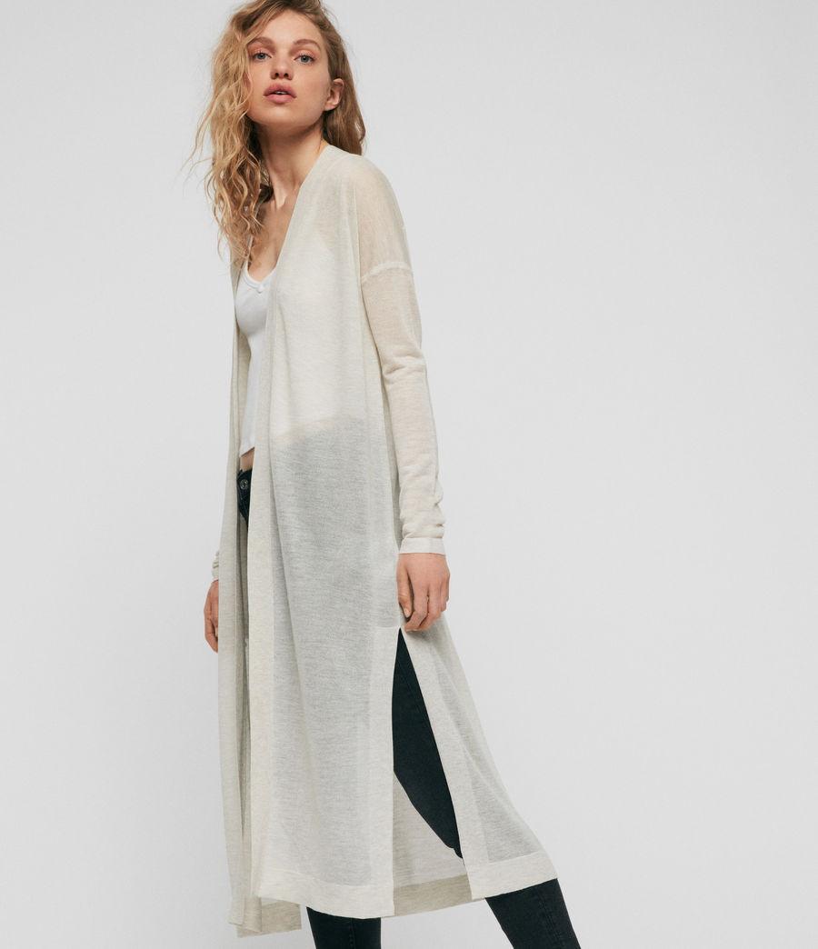 Femmes Cardigan Fleur (linen_white) - Image 2