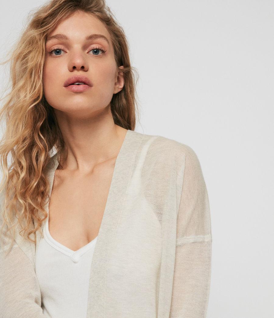 Femmes Cardigan Fleur (linen_white) - Image 3
