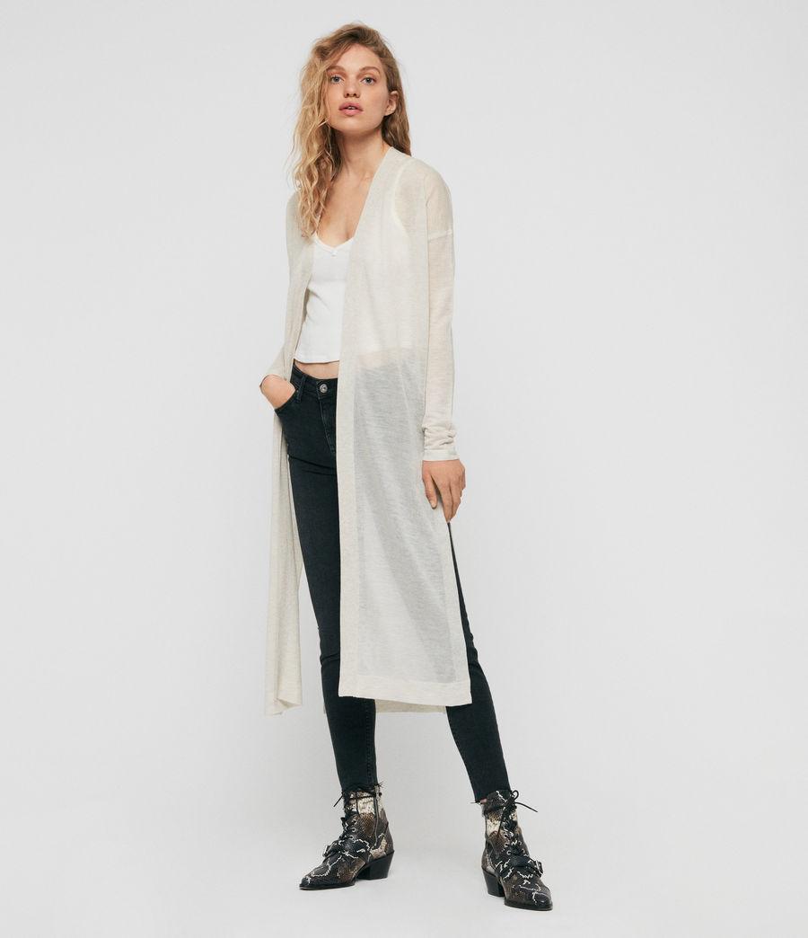Femmes Cardigan Fleur (linen_white) - Image 4