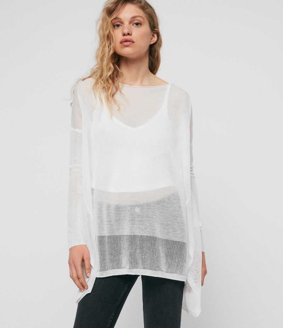 Womens Fran Sweater (white) - Image 1