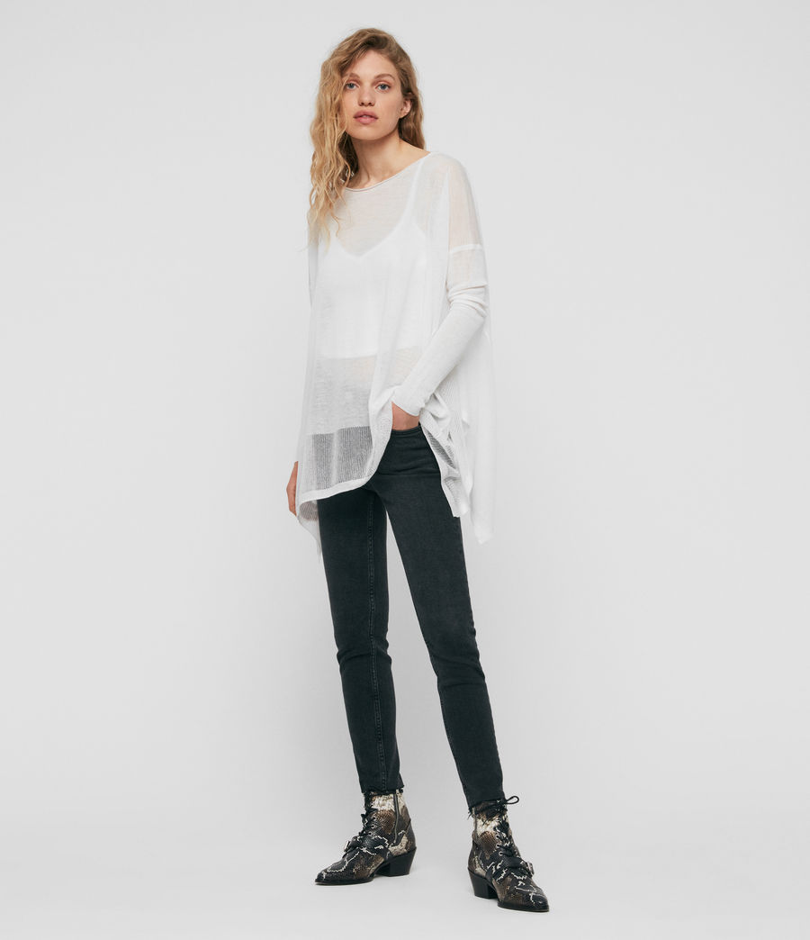 Womens Fran Sweater (white) - Image 3