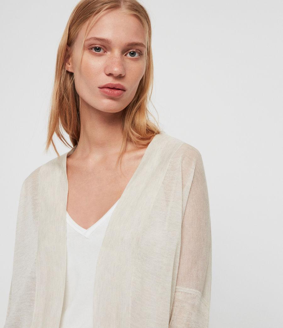 Womens Fran Cardigan (linen_white) - Image 4