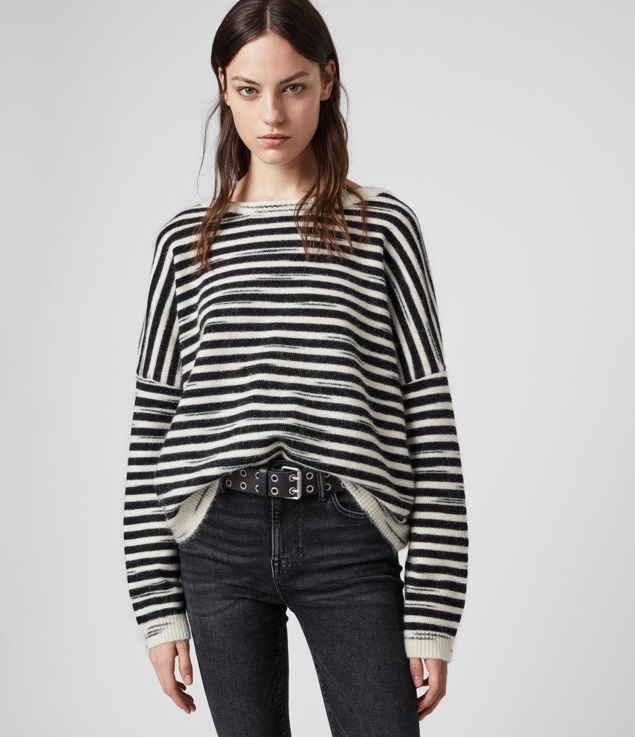 Womens Bretta Sweater (white_black) - Image 1